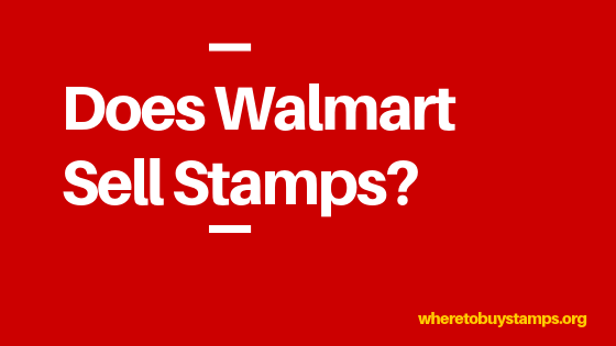 Does Walmart Sell Stamps