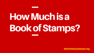 price of a book of postage stamps